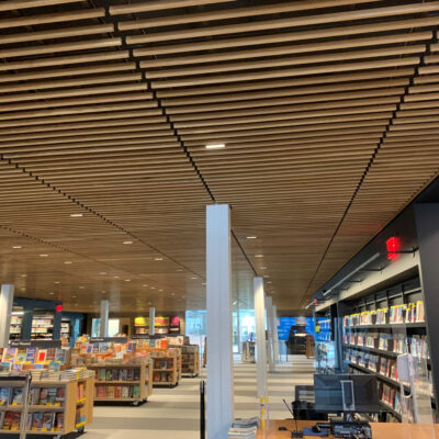 Rulon Wood Grille at Skokie Public Library